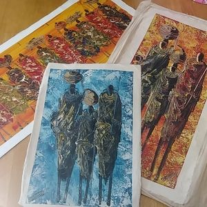 African Art canvases (Handmade)